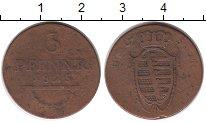 Изображение Монеты Германия Саксония 3 пфеннига 1825 Медь VF