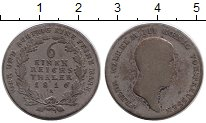 Изображение Монеты Пруссия 1/6 талера 1816 Серебро VF