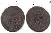 Изображение Монеты Вюртемберг 1 крейцер 1814 Серебро VF