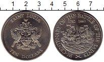 Изображение Монеты Северная Америка Сент-Люсия 10 долларов 1982 Медно-никель UNC