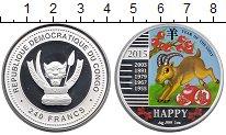 Изображение Монеты Африка Конго 240 франков 2015 Серебро Proof