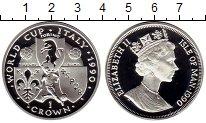 Изображение Монеты Великобритания Остров Мэн 1 крона 1990 Серебро Proof