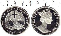 Изображение Монеты Остров Мэн 1 крона 1990 Серебро Proof