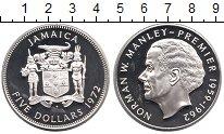 Изображение Монеты Ямайка 5 долларов 1972 Серебро Proof-