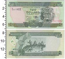 Изображение Банкноты Австралия и Океания Соломоновы острова 2 доллара 0  UNC