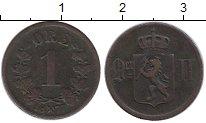 Изображение Монеты Европа Норвегия 1 эре 1877 Медь VF
