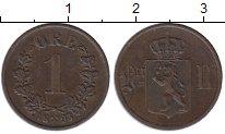 Изображение Монеты Европа Норвегия 1 эре 1893 Медь XF