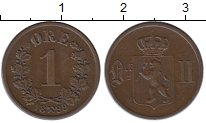 Изображение Монеты Европа Норвегия 1 эре 1899 Медь XF
