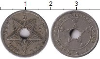 Изображение Монеты Бельгийское Конго 5 сантим 1919 Медно-никель VF