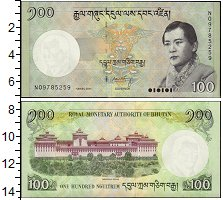Изображение Банкноты Азия Бутан 100 нгултрум 2011  UNC