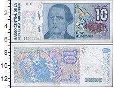 Изображение Монеты Южная Америка Аргентина 10 аустралес 0  UNC-