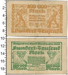 Изображение Банкноты Веймарская республика 100000 марок 1923  VF-