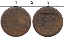 Изображение Монеты Португалия 1 сентаво 1917 Бронза XF