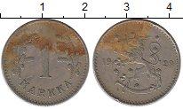 Изображение Монеты Европа Финляндия 1 марка 1929 Медно-никель XF-