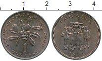 Изображение Монеты Ямайка 1 цент 1971 Бронза UNC-