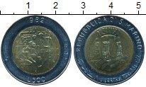 Изображение Монеты Европа Сан-Марино 500 лир 1982 Биметалл UNC-