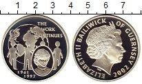 Изображение Монеты Гернси 5 фунтов 2002 Серебро Proof Принцесса Диана