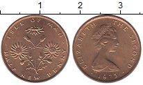 Изображение Монеты Остров Мэн 1/2 пенни 1975 Бронза UNC-