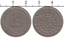 Изображение Монеты Португалия Португальская Индия 1/2 рупии 1947 Медно-никель XF
