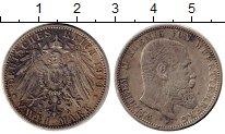 Изображение Монеты Германия Вюртемберг 2 марки 1900 Серебро XF-