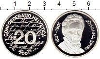 Изображение Монеты Европа Швейцария 20 франков 2001 Серебро Proof-