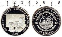 Изображение Монеты Африка Либерия 20 долларов 2000 Серебро UNC-