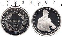 Изображение Монеты Азия Турция 4000000 лир 1999 Серебро Proof