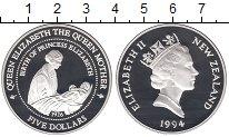 Изображение Монеты Новая Зеландия 5 долларов 1994 Серебро Proof