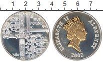 Изображение Монеты Олдерни 5 фунтов 2002 Серебро Proof- Золотой юбилей правл