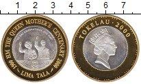 Изображение Монеты Токелау 5 тала 2000 Серебро Proof- 100 лет королеве-мат