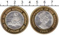 Изображение Монеты Северная Америка Багамские острова 2 доллара 2000 Серебро Proof-