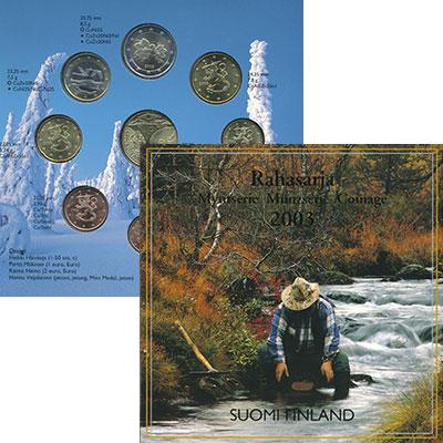 Изображение Подарочные монеты Финляндия Годовой набор евро 2003 2003  UNC