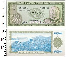 Изображение Банкноты Тонга 1 паанга 1988  UNC
