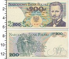 Изображение Банкноты Европа Польша 200 злотых 1988  UNC