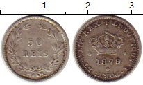 Изображение Монеты Европа Португалия 50 рейс 1879 Серебро XF
