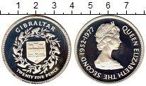 Изображение Монеты Гибралтар 25 пенсов 1977 Серебро Proof-