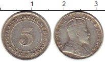 Изображение Монеты Стрейтс-Сеттльмент 5 центов 1910 Серебро XF-