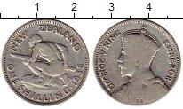 Изображение Монеты Австралия и Океания Новая Зеландия 1 шиллинг 1935 Серебро XF-