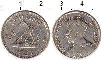 Изображение Монеты Фиджи 1 шиллинг 1934 Серебро XF-