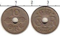 Изображение Монеты Дания 10 эре 1937 Медно-никель XF