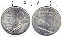 Изображение Монеты Европа Италия 10 лир 1955 Алюминий XF