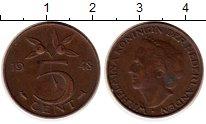 Изображение Монеты Европа Нидерланды 5 центов 1948 Бронза XF