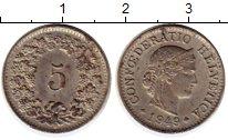 Изображение Монеты Европа Швейцария 5 рапп 1949 Медно-никель XF