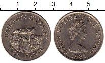 Изображение Монеты Остров Джерси 10 пенсов 1988 Медно-никель XF
