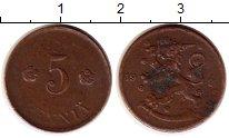 Изображение Монеты Финляндия 5 пенни 1923 Бронза XF
