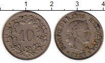Изображение Монеты Швейцария 10 рапп 1927 Медно-никель XF