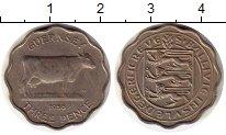 Изображение Монеты Великобритания Гернси 3 пенса 1956 Медно-никель UNC-