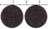 Изображение Монеты Европа Австрия 2 геллера 1918 Железо VF