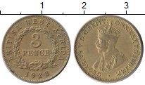 Изображение Монеты Западная Африка 3 пенса 1928 Латунь XF Георг V