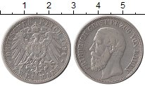 Изображение Монеты Германия Баден 2 марки 1894 Серебро XF